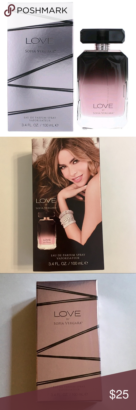 "NWT LOVE Perfume by Sofia Vergara Brand new, unopened 3.4 oz LOVE perfume by Sofia Vergara. Described as a ""sultry, magnetic oriental fruity fragrance"" with its top notes being mandarin, passion fruit, & orange blossom. Would make a great gift! Make an offer!! Other"