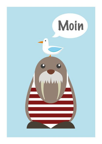 Photo of Prints & Posters – Children's Room Poster – Maritime Poster – Funny Poster – Poster …