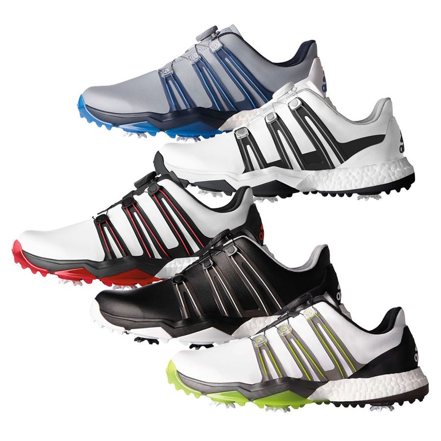 New Adidas Powerband Boa Boost Golf Shoes Bounce Foam Comfort