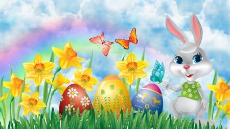 Hd Rainbows Nature Wallpapers Rainbow Easter Ostern Wallpaper