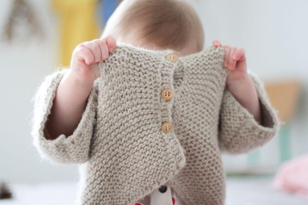 les tricots de Granny: gilet manches 3/4   Knit kids   Tricot, Les tricots de granny