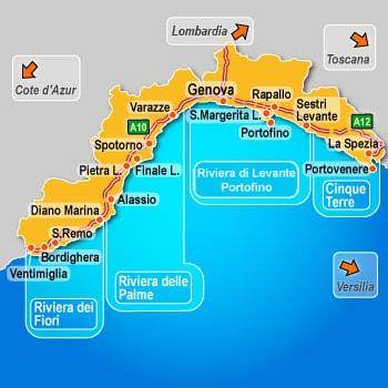 Riviera Ligure Riviera Delle Palme Italienische Riviera Genua