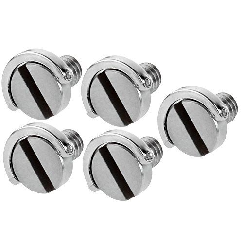 Neewer Stainless Steel 1//4 Mounting Screw 0.39//10mm Shaft for Camera Tripod Monopod without Ring 10 Pack