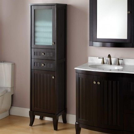 Palmetto Espresso Bathroom Linen Cabinet