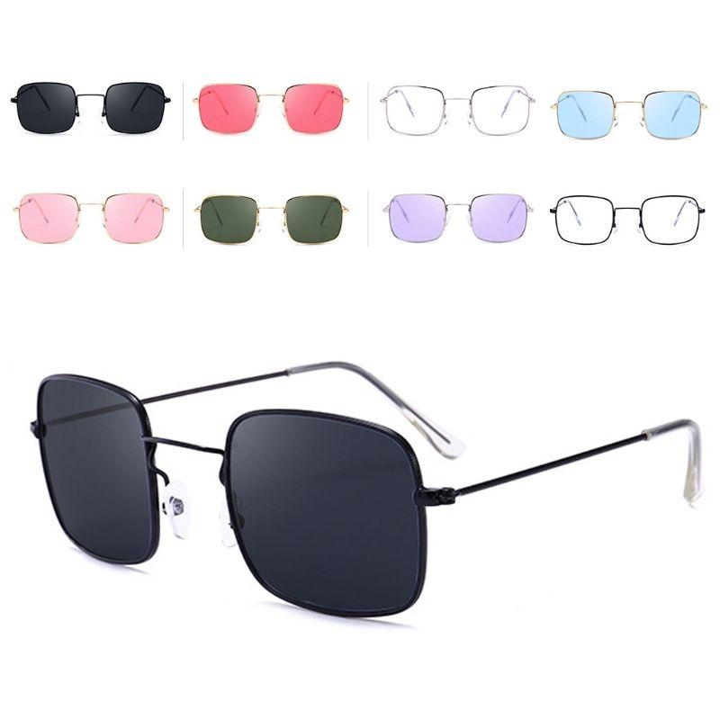 c6b357fa48e1 Солнцезащитные очки-прямоугольники с тонкой металлической оправой (в наличии  коралловые) - 18244
