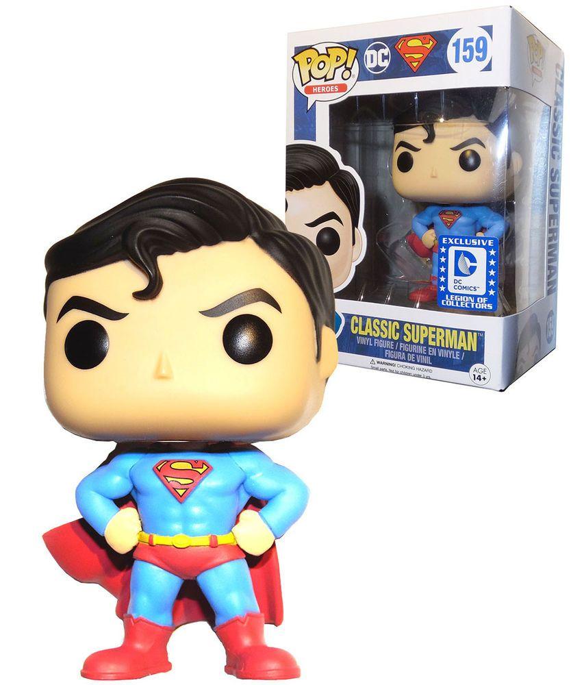 Funko Pop Heroes 159 Classic Superman DC Legion Of Collectors Exclusive