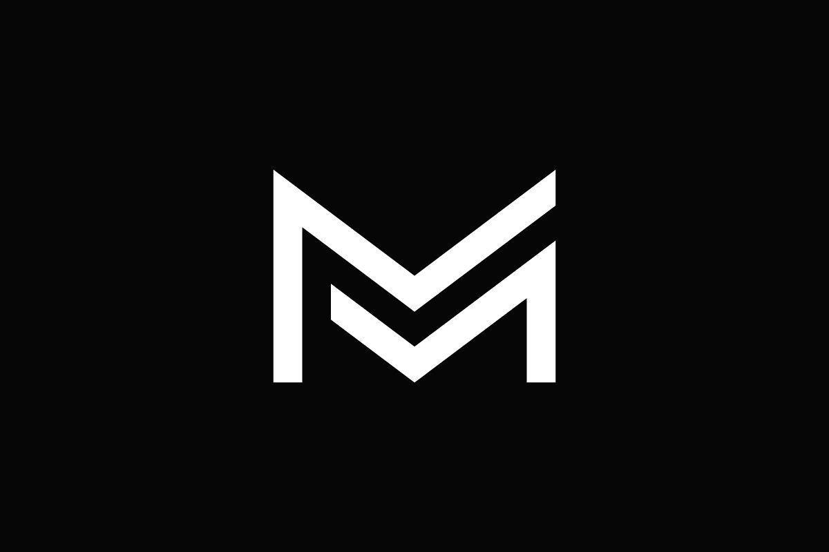 Mm Letter Logo Typographic Logo Design Text Logo Design Letter Logo Design