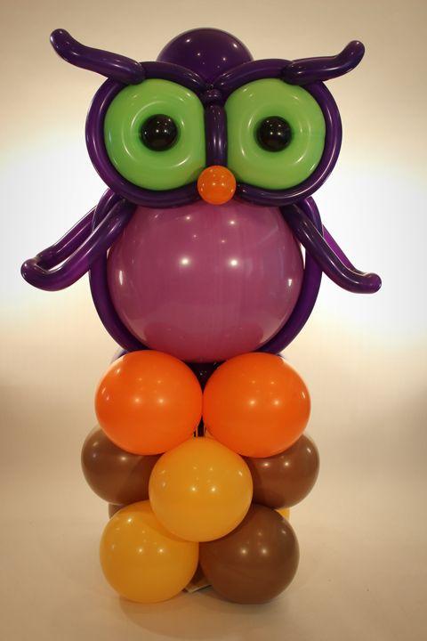 Decoração Balão coruja Owls are so in! Decoração com Balões