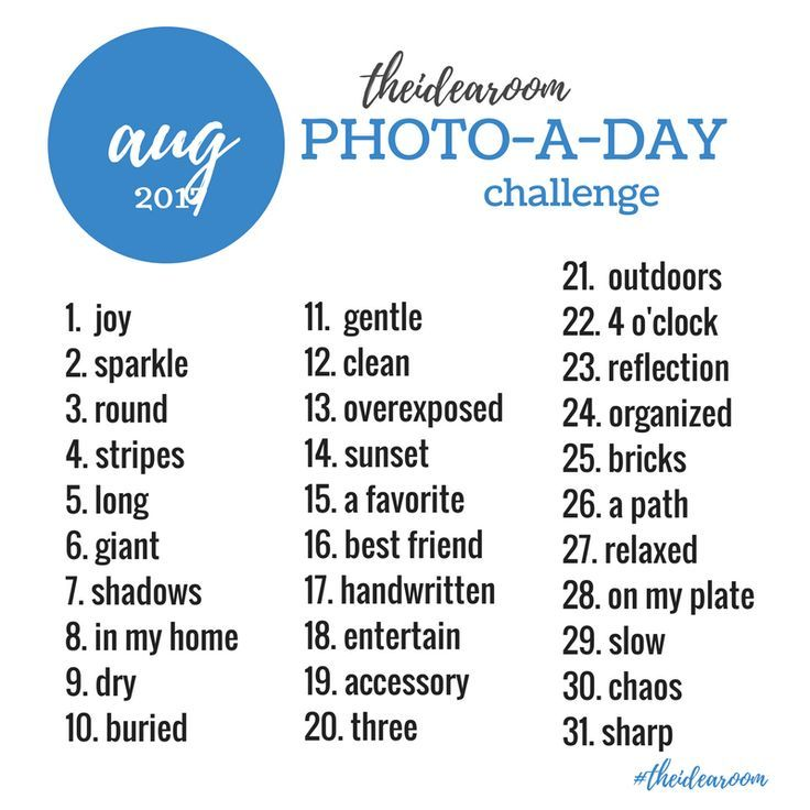 August Photo A Day Challenge