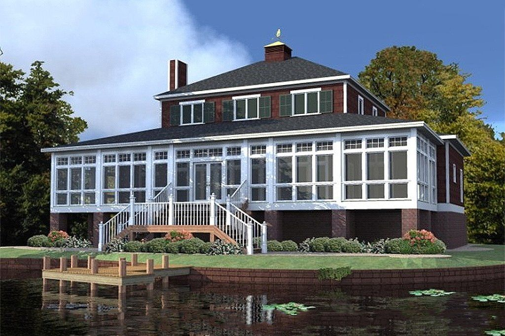 Cabin Style House Plan 5 Beds 3 5 Baths 2866 Sq Ft Plan 63 303 Country Style House Plans Coastal House Plans Elevated House Plans