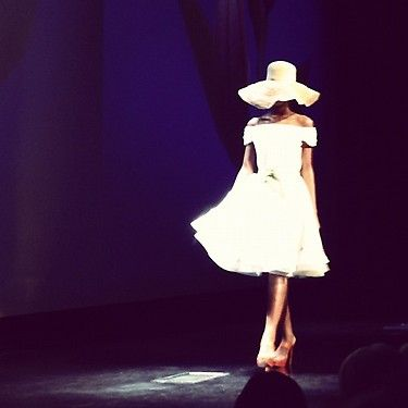 We love this Douglas Hannant look.N.Y fashion Show