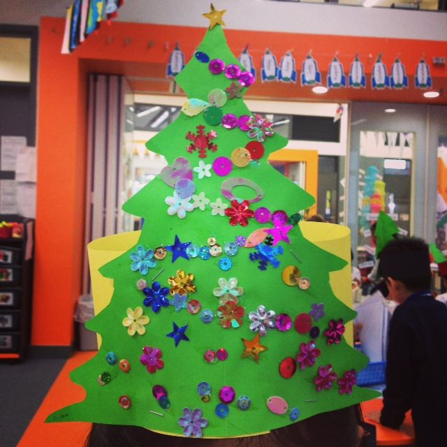 Easy to make, symmetrical Christmas tree If they draw it themselves