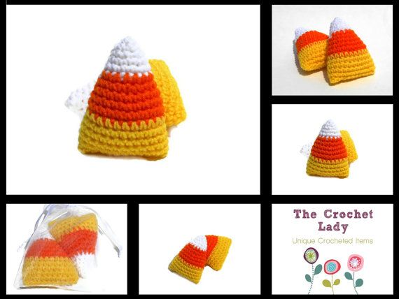 Candy Corn Crocheted  by TheCrochetLady