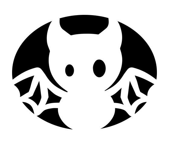 Download this Baby Bat Pumpkin Carving Stencil and other free