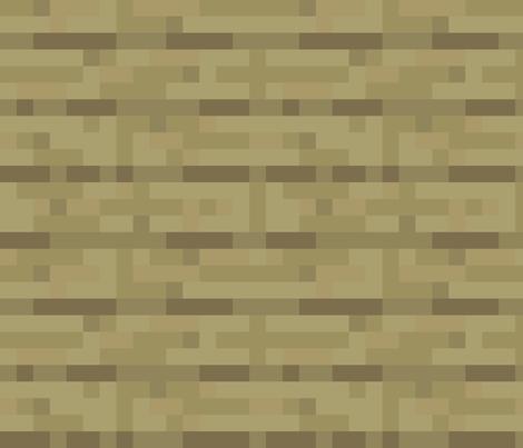 Pixelated Wooden Planks Birch Large Elsielevelsup Spoonflower Wooden Planks Minecraft Room Custom Fabric