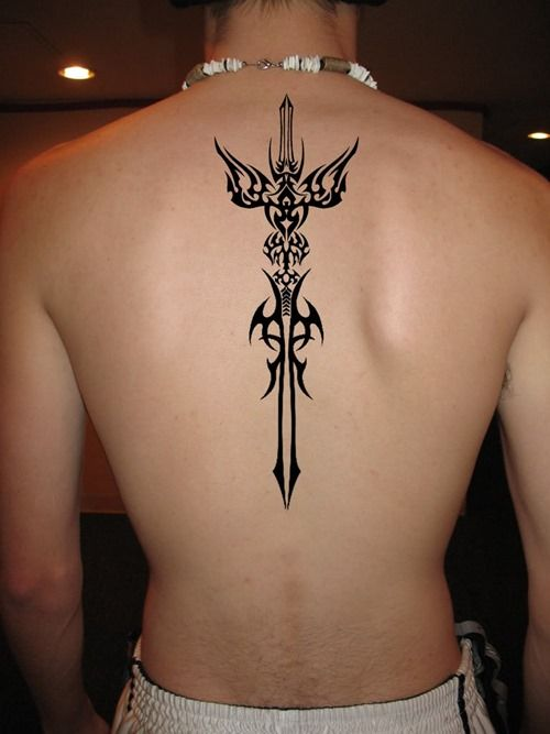 Tribal Spine Tattoo For Men And Women Tattoos For Guys Tattoos