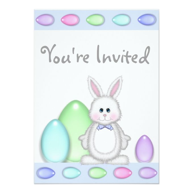 cute bunny and colorful eggs easter boys birthday card boy