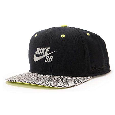 Nike Sb X Primitive Elephant Volt Snapback Hat Zumiez Nike Sb Nike Sb Logo Black Snapback Hats
