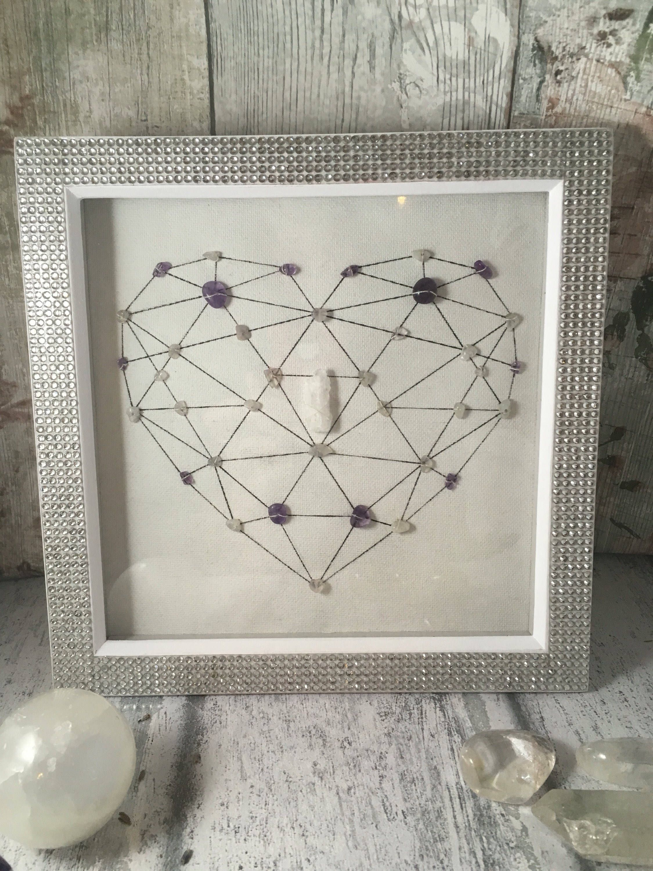 Items Similar To Relaxing Crystal Grid Crystal Art Framed
