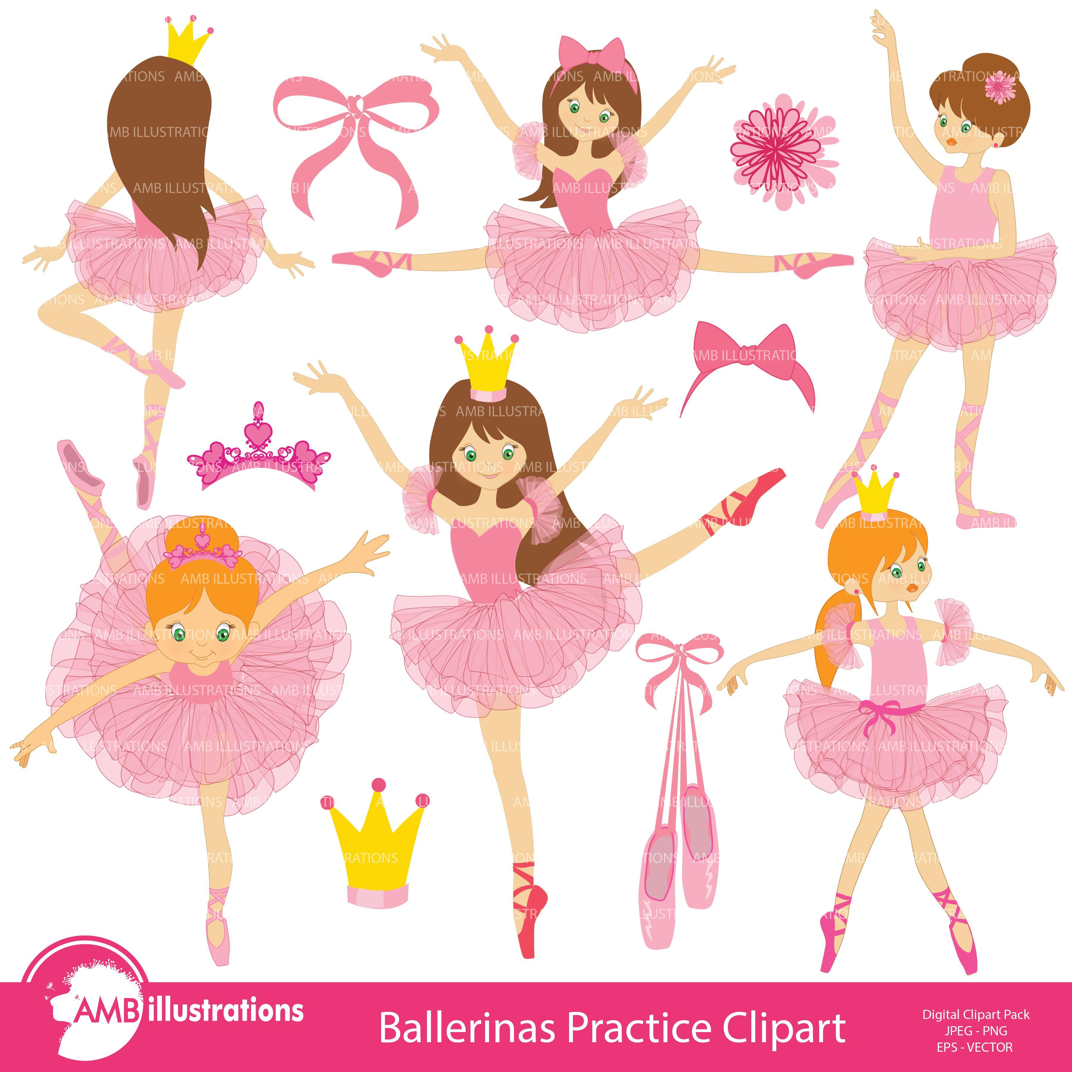 Ballerina Ballet Clipart AMB-232 by AMBillustrations on @creativemarket
