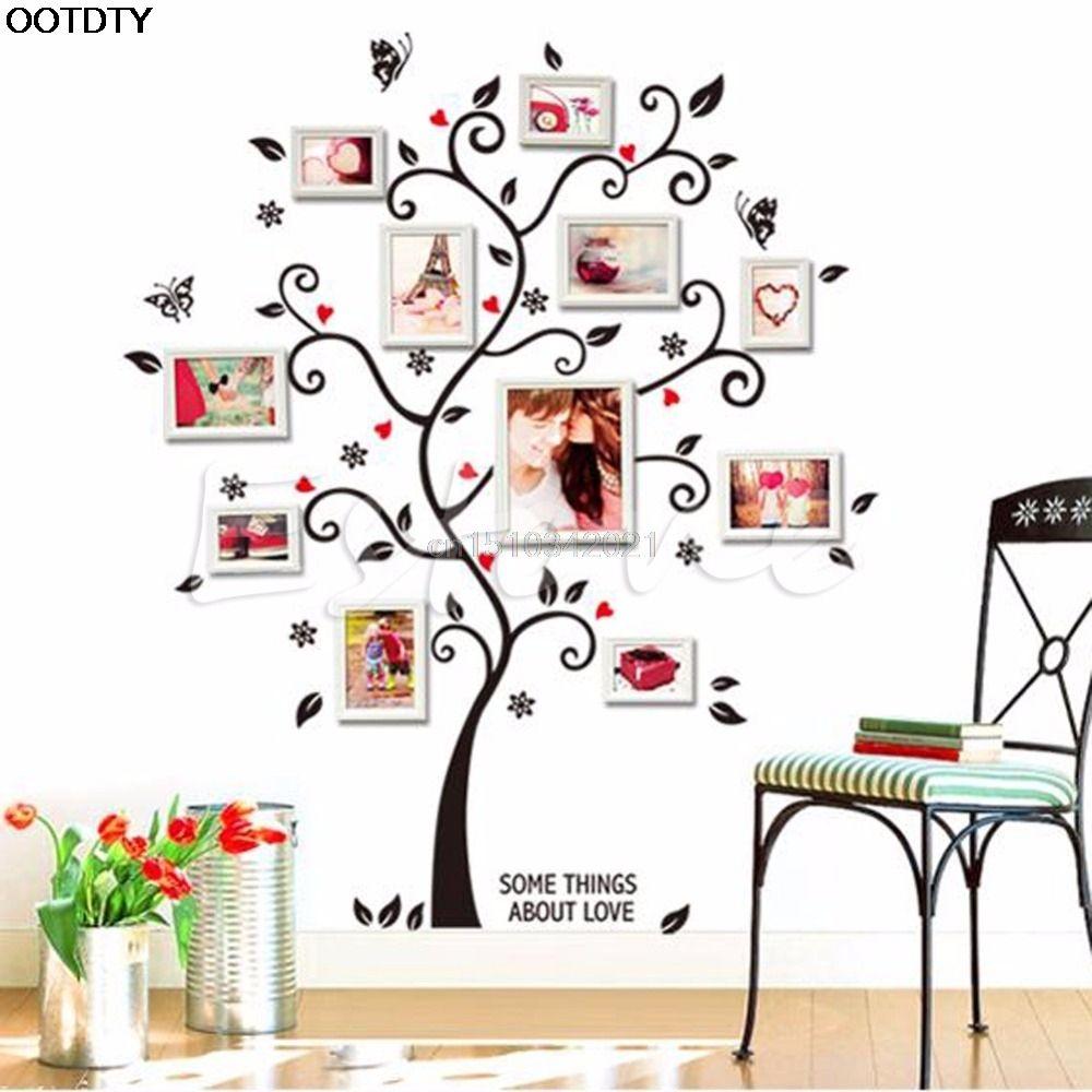 Click to buy wall sticker family photo frame birds tree click to buy wall sticker family photo frame birds tree removable wall amipublicfo Choice Image