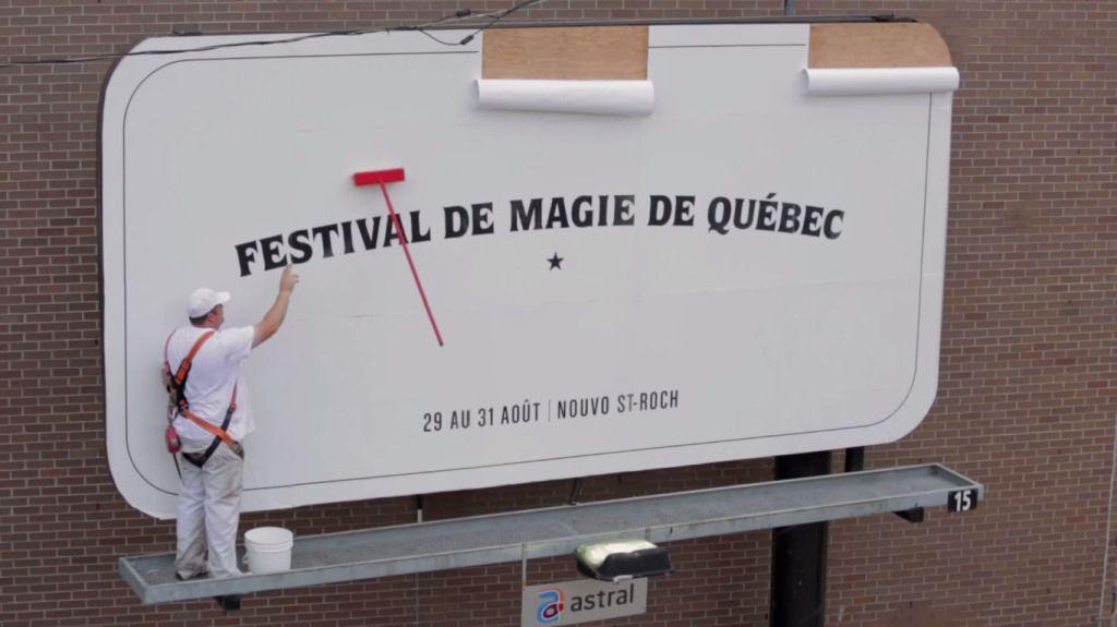 Publicidad mágica para anunciar el Festival de Magia de Quebec | Tiempo de Publicidad