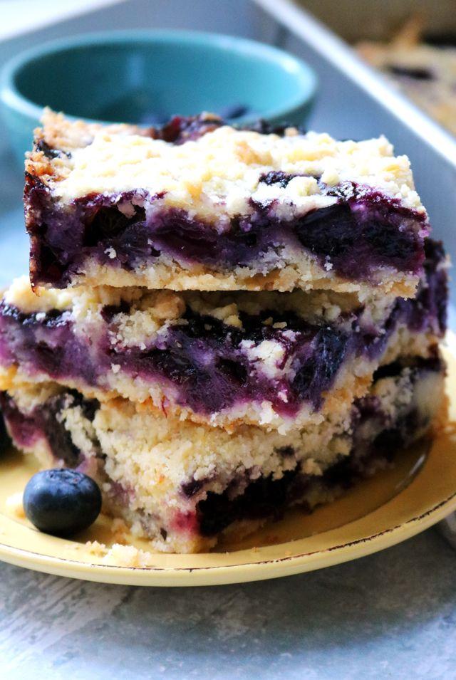 Blueberry Lemon Crumble Bars   Recipe   Crumble bars ...