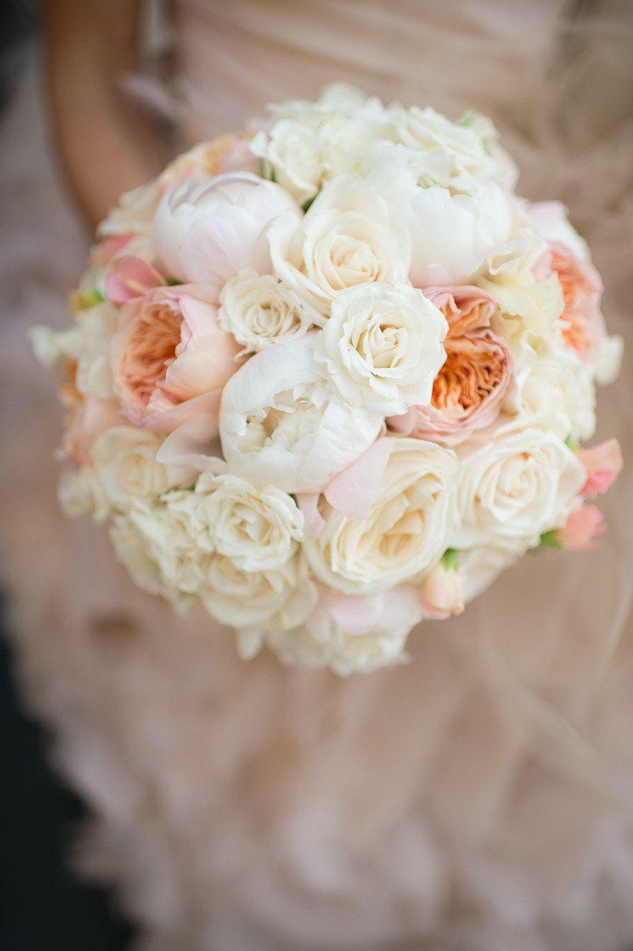 Tribeca Wedding from Brian Hatton Photography  #white #peach #wedding