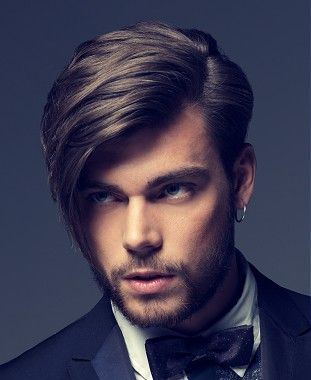 A Medium Brown Straight Side Parting Hairstyle By Terence Paul