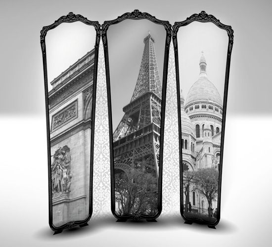 Imagine this as a privacy screen in a bedroom! Cool Paris-Themed ...