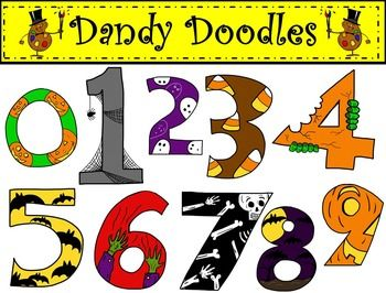 halloween numbers png images in color and bw clipart rh pinterest com
