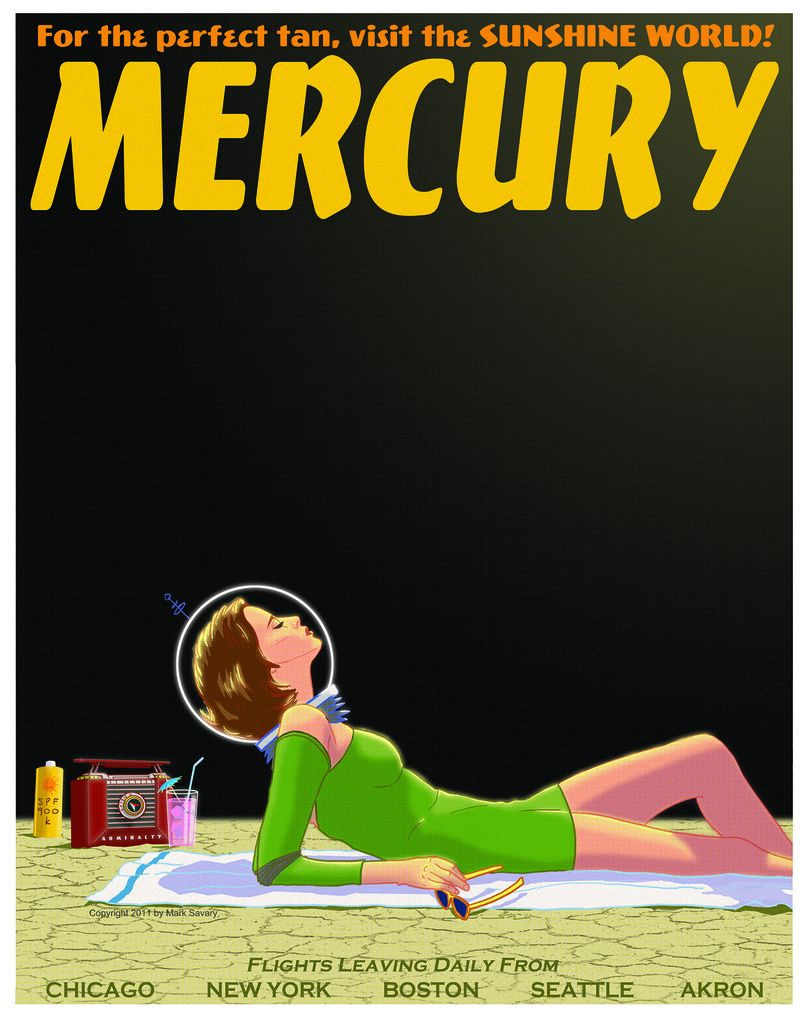 Zazzle poster design - Mercury Travel Poster By Mark Savary Buy Http Www Zazzle