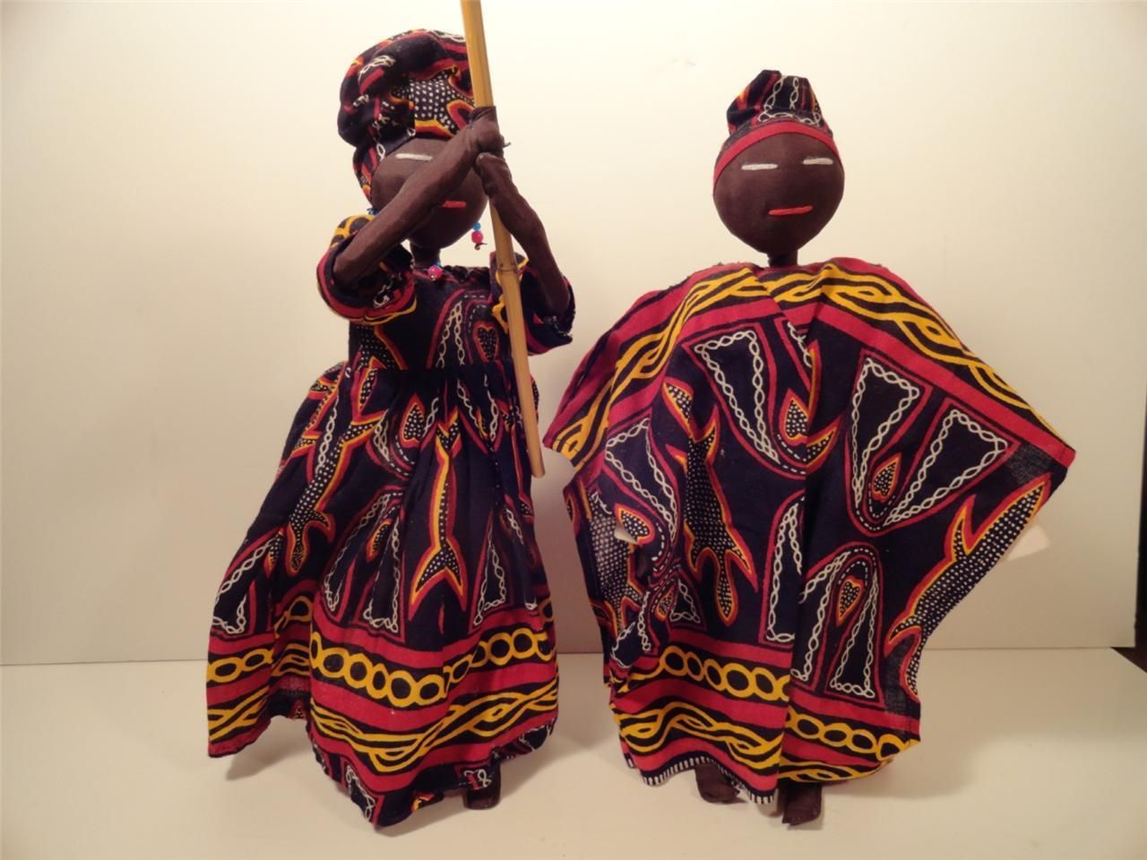 African Folk Art Rag Dolls - Fabric Senegal . In 2019