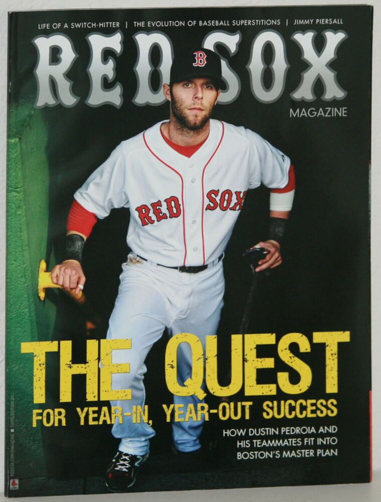 Third Edition 2011 RED SOX MAGAZINE Dustin Pedroia Cover