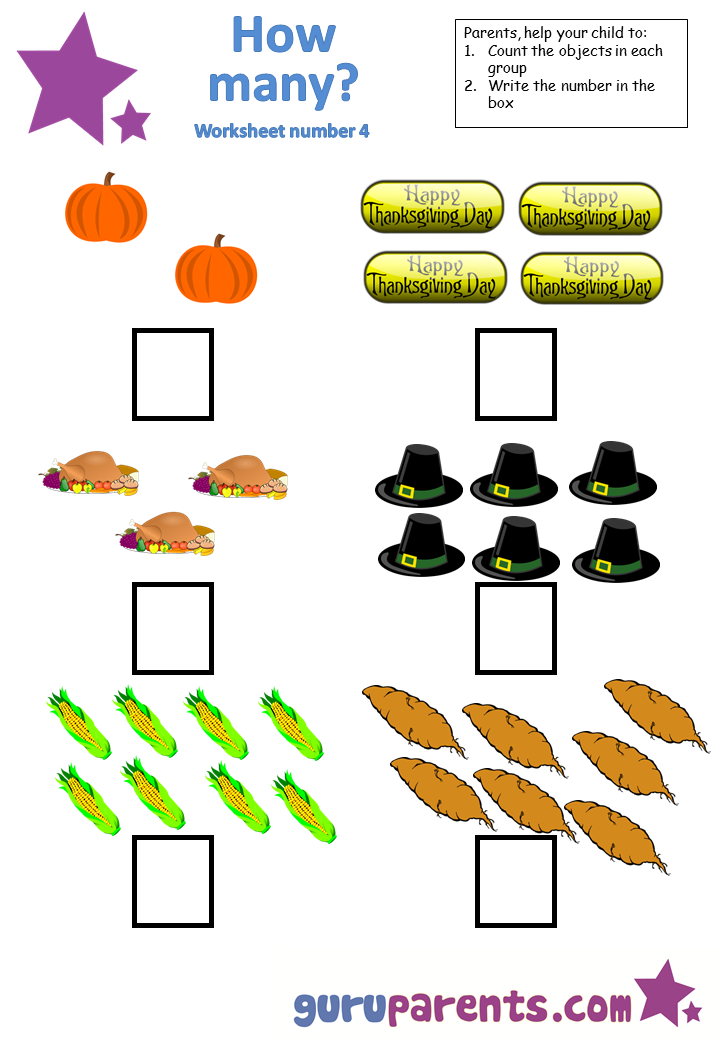 Math Worksheet - Counting #4 | Kindergarten | Pinterest ...