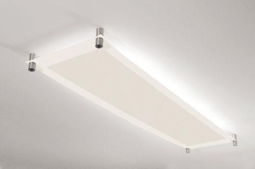 Deckenleuchte Arbeitszimmer ~ Moderne deckenleuchte rechteckig glas leuchtstoff glas