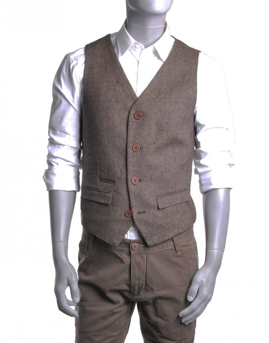 gilet de costume marron edi fringue male gilet costume. Black Bedroom Furniture Sets. Home Design Ideas