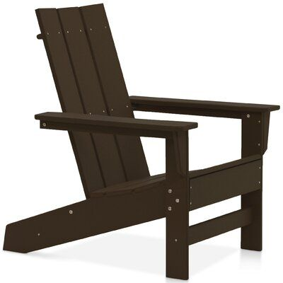 Breakwater Bay Oakdale Plastic Adirondack Chair Colour Chocolate