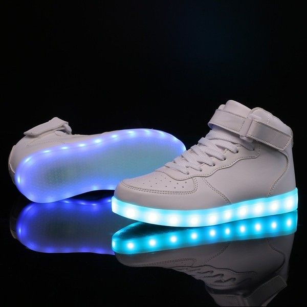 Pin By Aziza Bomani On My Polyvore Designs And Favorite Likes Light Up Shoes White Nike Shoes Sneakers