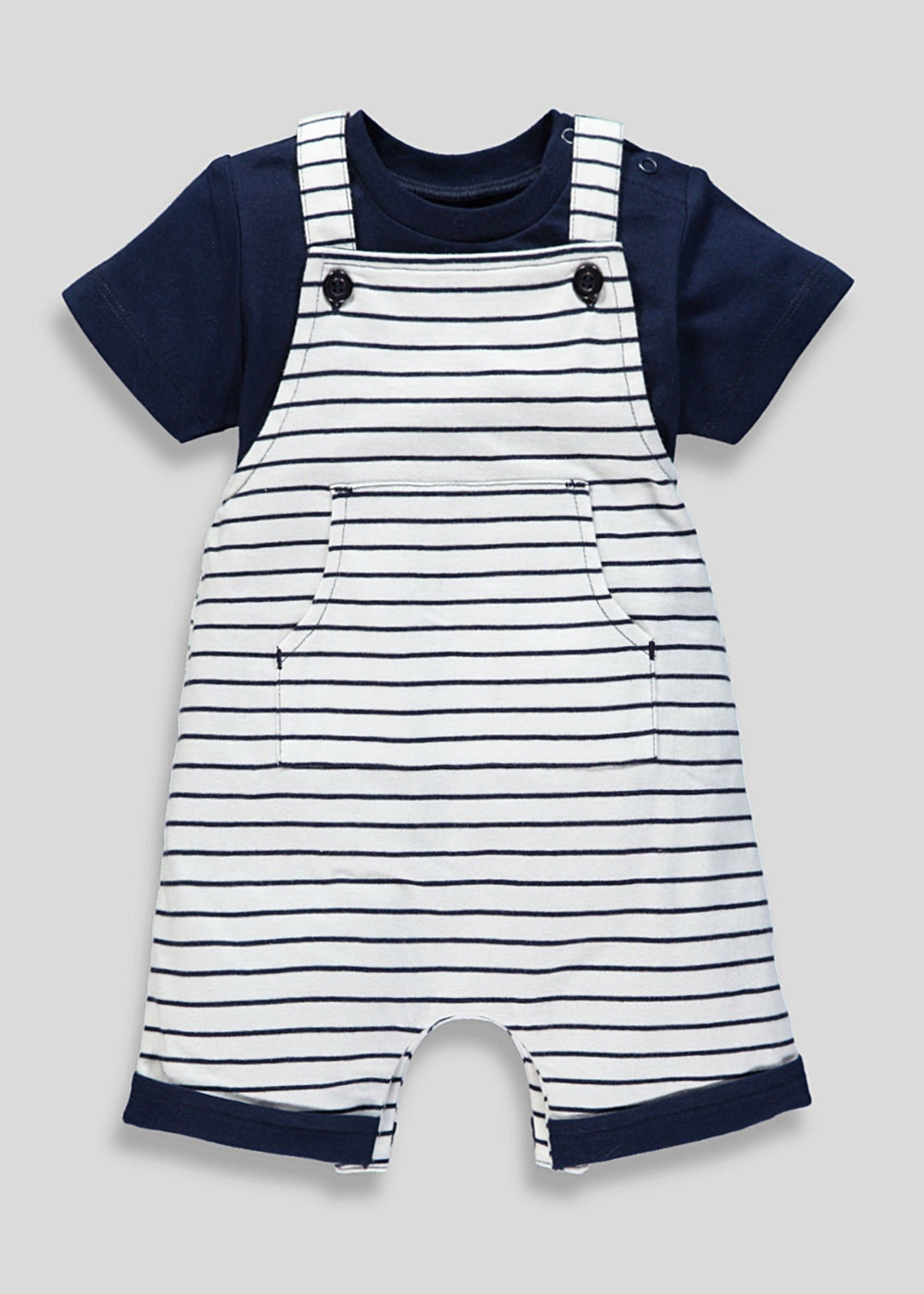 clear-cut texture hoard as a rare commodity provide large selection of Unisex Stripe Dungarees & Bodysuit Set (Newborn-18mths ...