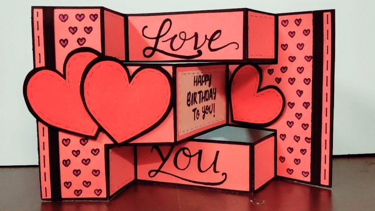 handmade card for birthday  diy card idea for birthday  trifold