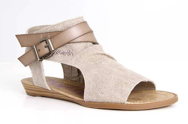 495327c8b472 Blowfish Shoes Balla Wedge Sandals in Light Taupe BF-5486-LTTAU ...