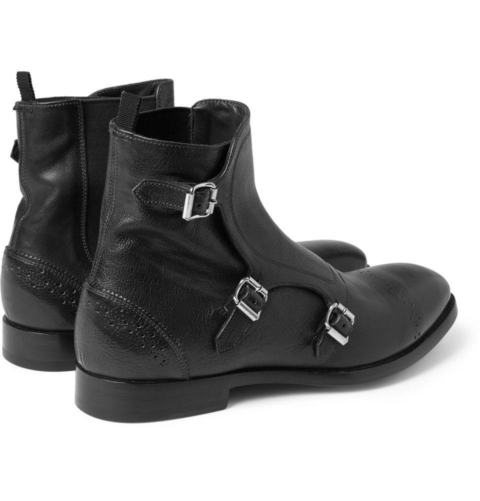 Alexander McQueen - Triple Monk-Strap Brogue Boots|MR PORTER