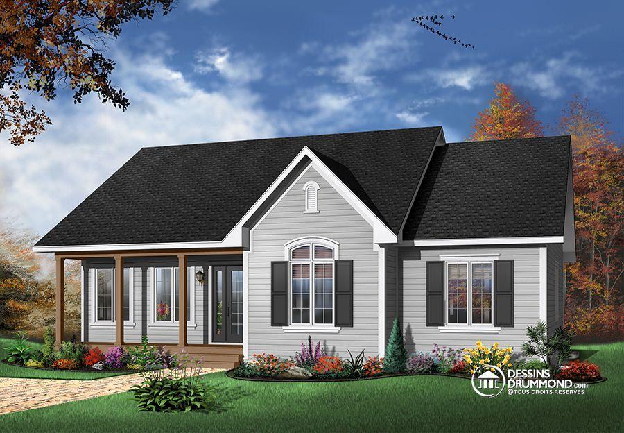 Détail du plan de Maison unifamiliale W2185 plan maison