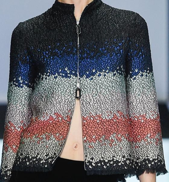 patternprints journal: PATTERNS, PRINTS, TEXTURES AND SURFACES INTO F/W 2016/17 FASHION COLLECTIONS / MILANO 12 - Giorgio Armani