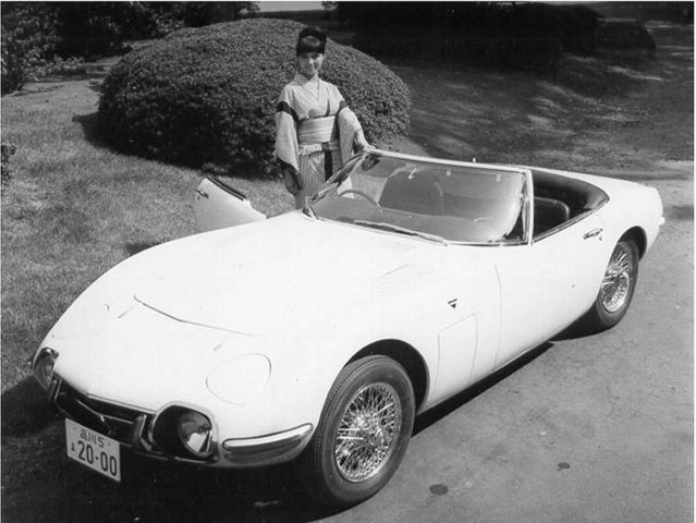 "1966 Toyota 2000GT - from the James Bond film ""You Only Live Twice"" - There were two roadster versions of the car built specially for the film."