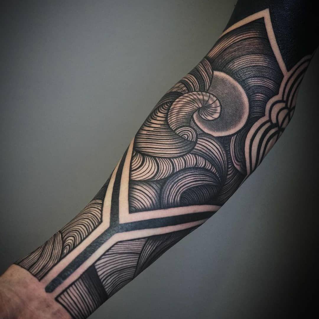 Geometric Inspiration Inkstinct In 2020 Geometric Tattoos Men Geometric Sleeve Tattoo Tribal Forearm Tattoos