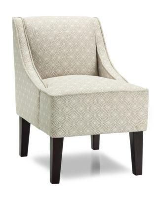 Phoenix Accent Chair, Gigi Platinum - White   Upholstered ...