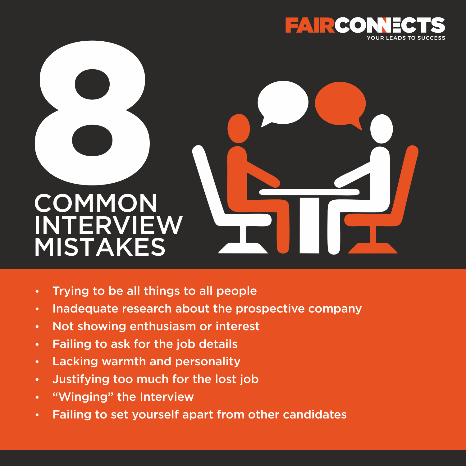It is very easy to make these common interview mistakes