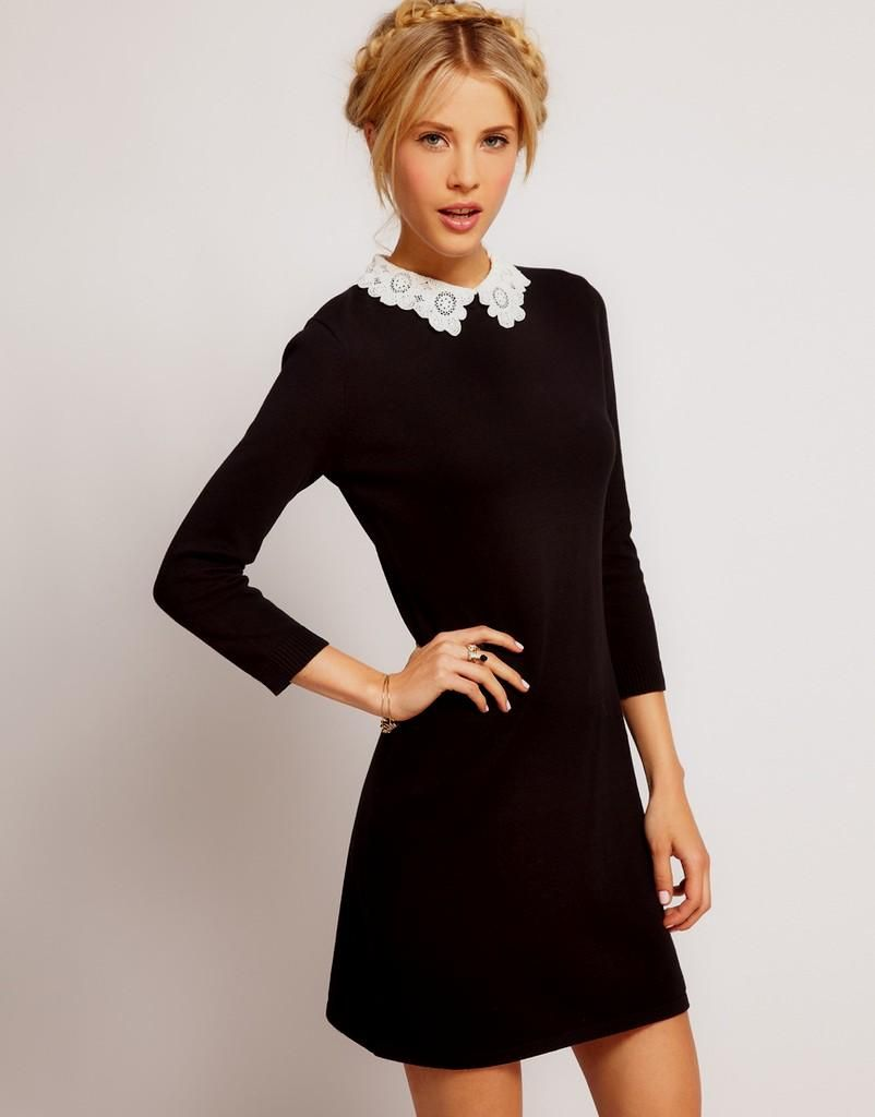 cute clothes for teens | Cute black and dress long sleeve dresses ...